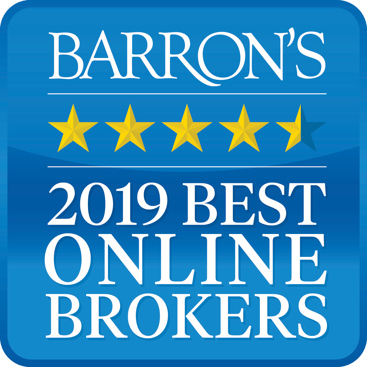 Barron's Best Online Broker Award